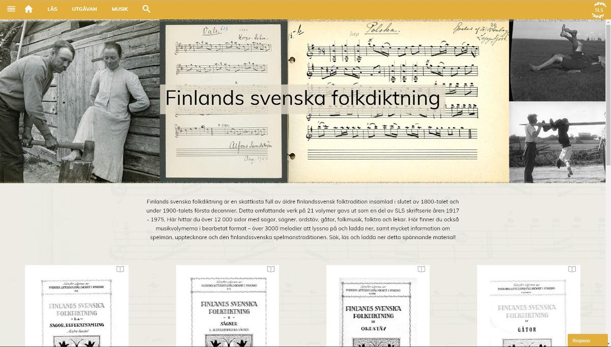 Finlands svenska folkdiktning.